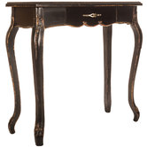 Distressed Black Wood Console Table
